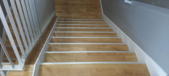 habillage escaliers bois